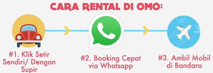 Cara rental mobil di Bali via OMOcars